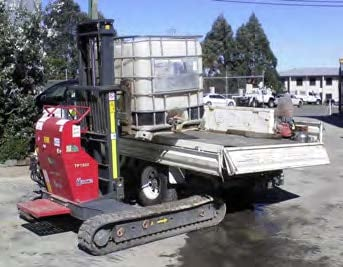 HINOWA TRACK FORKLIFT - Drilling Contractor Newcastle & Hunter Valley - Total Drilling