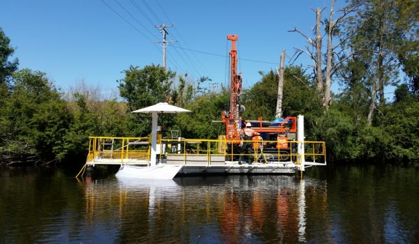 Drill on Platform Mast Up - Drilling Contractor Newcastle & Hunter Valley - Total Drilling